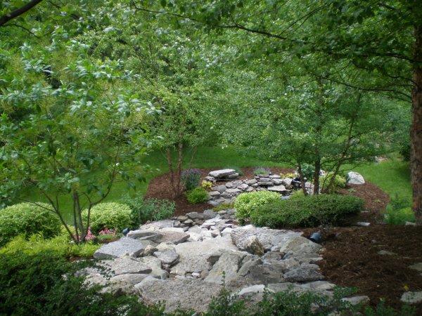 Natural stone water run off