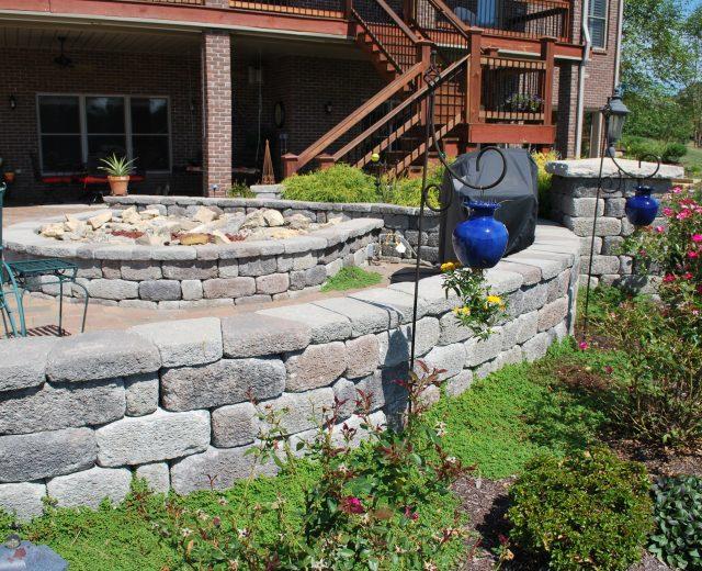 Short garden wall