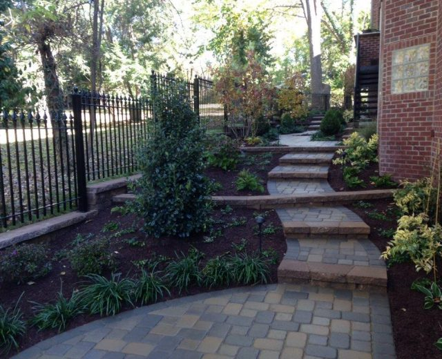 Paver steps and landscaping